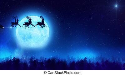 claus, fliegendes, santa