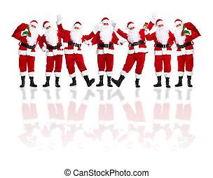 claus, group., santa