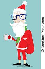 claus, hipster, santa