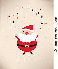 claus, illustration, santa