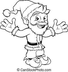 claus, jultomten, lycklig