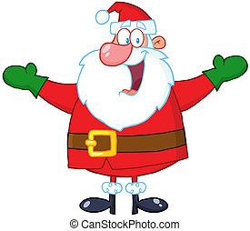 claus, kerstman, vrolijk