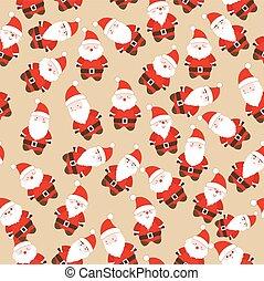 claus, kerstmis, kerstman, seamless