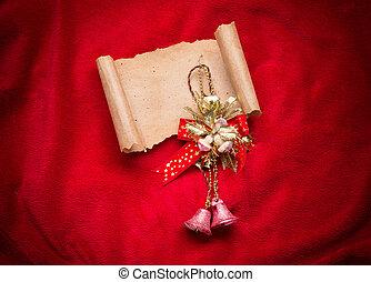 claus., lettera, decorations., santa, natale, rosso