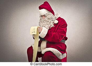 claus, lezende , kerstman