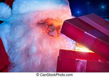 claus, magia, santa, regalo, natale