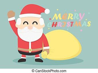 claus, .merry, weihnachten, santa