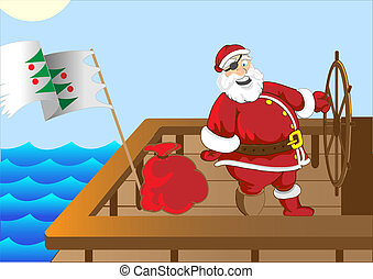 claus, pirate, santa