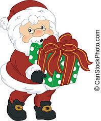 claus , santa , δώρο