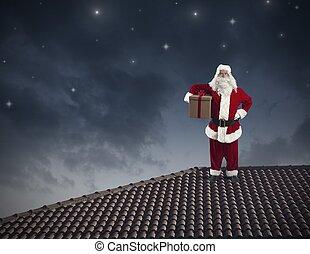 Claus,  santa, 屋根