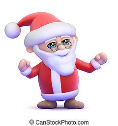 claus, santa, 3d