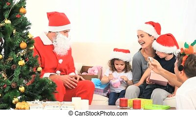 claus, santa, famille