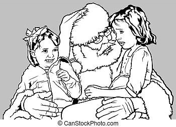 claus, santa, gosses