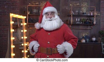 claus, santa, joyeux, charmer, voeux, vous, noël
