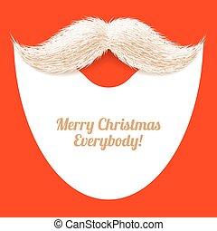 claus, santa, moustache, barbe