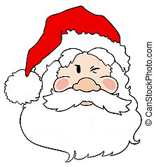 claus, santa, winking.