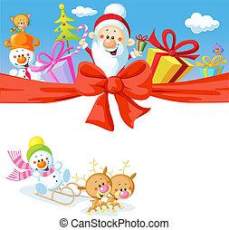 schneemann baum geschenke rentier zug santa. Black Bedroom Furniture Sets. Home Design Ideas