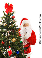 claus, shhhhhh, santa