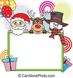 claus, snowman, reno, santa