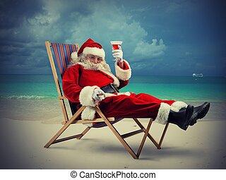claus, vakantie, kerstman