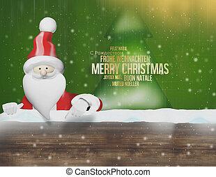 claus, weihnachten, santa, 3d