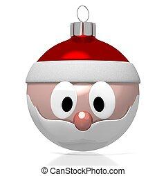 claus, -, weihnachten, santa, flitter