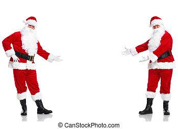 claus., welcome., santa