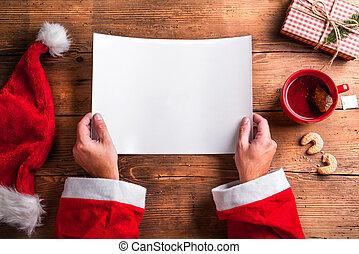 claus, wishlist, santa