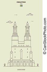 claustros, eskilstuna, sweden., igreja, marco, ícone