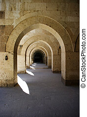 claustros, turco, caravansary, anatolia