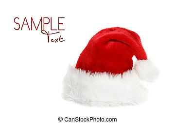 clausule, hoedje, kerstman, copyspace