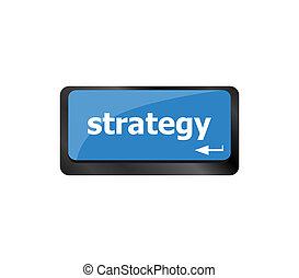 clavier, bouton, clef informatique, stratégie