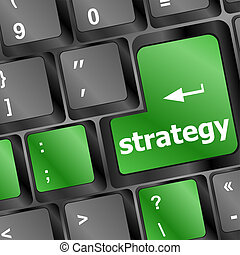 clavier, bouton, informatique, vert, stratégie