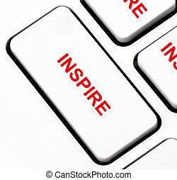 clavier, bouton, inspirer