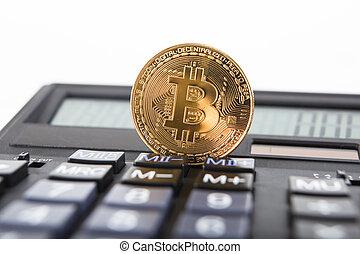 clavier, calculator., bitcoin