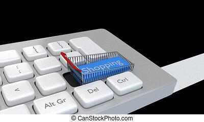 clavier, concept, achats