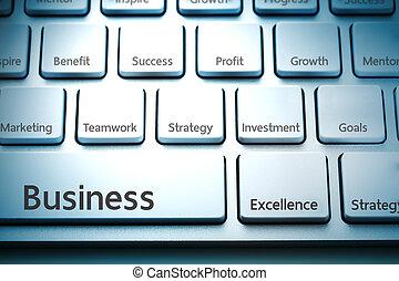 clavier, concept, business, rédaction
