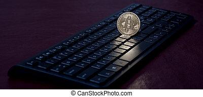 clavier, monnaie, morceau, informatique