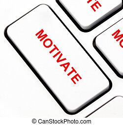 clavier, motiver, bouton