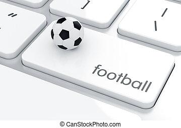 clavier ordinateur, boule football