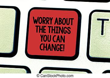 clavier, photo, actions, signe, clavier ordinateur, message, souci, change., choses, créer, intention, charge, texte, conceptuel, vous, être, projection, possible, clã©, sur, idea., urgent, boîte