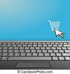 clavier portable, internet, achat, icône, espace copy