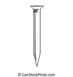clavo, metal, icono
