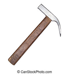 claw hammer isolated on the white background