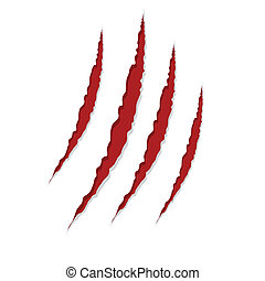 claw scratches isolated on white background, vector...