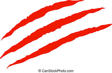 Claw scratches vector - Red bloody claw scratches vector ...