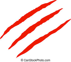 Claw scratches vector - Red bloody claw scratches vector...