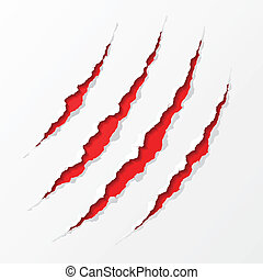 Claws scratches - Detailed vector illustration of claws...