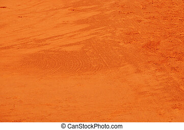 Clay background - Detail of a clay tennis court at Roland...