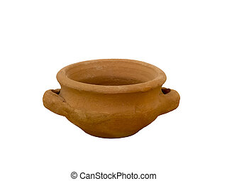 Clay candlestick